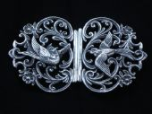 Hallmarked Silver Nurses Buckle in the Victorian Style (SOLD)
